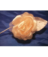 12 Silk Roses Wedding Favor Flower Corsage Pick - Peach - $7.13