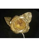 12 Silk Roses Wedding Favor Flower Corsage Pick - Gold - $7.13