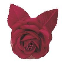 "12 silk roses wedding favor flower corsage burgundy 2.75"" - $7.72"