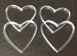 "12 plastic acrylic heart ring wedding favor accessory 2.5"" x 2.5"" - $4.94"