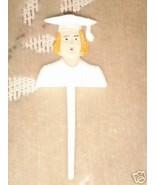 """12 girl graduation picks white 3"""" long - $1.73"""