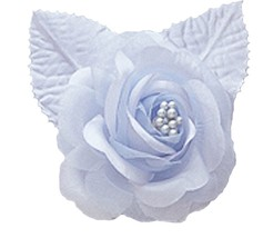"12 silk roses wedding favor flower corsage light blue 2.75"" - $7.72"