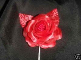 12 silk roses wedding favor flower corsage red - $7.72