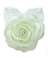 "12 silk roses wedding favor flower corsage mint green 2.75"" - $7.72"