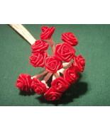 144 Silk Mini Wrap Roses Wedding Shower Flower Picks - Red - $3.95