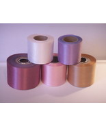 """2.75"""" assorted colors floral satin ribbon 5 colors 150 yards total - $24.26"""