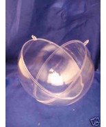 """2 Clear Plastic Ball fillable Ornament favor 4.5"""" 120mm - $4.21"""