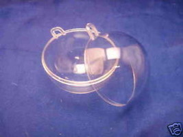 """2 Clear Plastic Ball fillable Ornament favor 4"""" 100mm - $3.26"""
