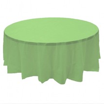 """2 Plastic Round Tablecloths 84"""" Diameter Table Cover - Citrus Green - $6.92"""