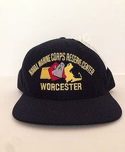 New Naval Marine Corps Reservice Center Worchester Black Cap Hat Military - $21.24