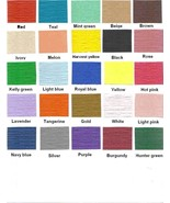 """24 Paper Placemats 10"""" X 14"""" Dinner Size 26 Colors - Teal - $2.92"""