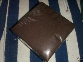 """24 Plates 7"""" Paper Dessert Plates Wax Coated - Brown - $3.42"""