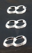 24 Silver color Capias Mini Charms For Wedding Shower  Favors - Wedding Rings - $2.38