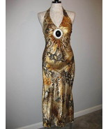 Sirens Sexy Animal Print Long Dress Size Small - $19.00