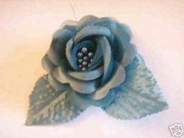 3 silk roses wedding favor flower corsage hunter green - $1.49