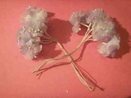 """36 light blue iredescent azalia satin  flower 1.75"""" - $3.96"""