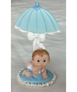 "4 pcs Baby Boy Under Umbrella shower favor cake top decoration 4"" X 2.5"" - $8.90"