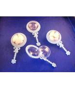 48 Fillable Plastic Baby Rattles Shower Favor - Blue - $21.78