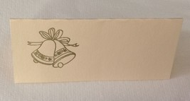 "50 Gold Wedding Bells Tent Style Ivory place cards 4.25"" x 1.75 folded - $7.91"