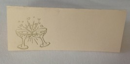 """50 Gold Champagne Glasses Tent Style Ivory place cards 4.25"""" x 1.75 folded - $7.91"""