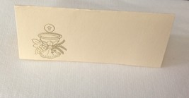 "50 Gold Challis Tent Style Ivory place cards 4.25"" x 1.75 folded - $7.91"