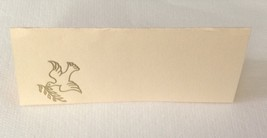 "50 Gold Peace Dove Tent Style Ivory place cards 4.25"" x 1.75 folded - $7.91"