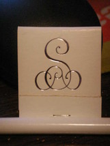 50 Mono Matches Matchbook Printed with 72 Point Monogram Letter - Metalic Royal - $11.00