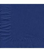50 Plain Solid Colors Beverage Cocktail Napkins Paper - Navy Blue - $2.76
