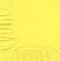 50 Plain Solid Colors Beverage Cocktail Napkins Paper - Yellow - $2.76