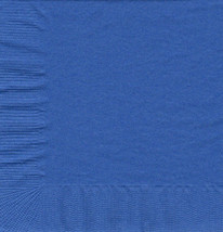 50 Plain Solid Colors Beverage Cocktail Napkins Paper - Cobalt/Royal Blue - $2.76