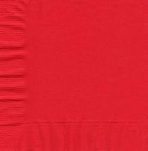 50 Plain Solid Colors Beverage Cocktail Napkins Paper - Red - $2.76