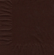 50 Plain Solid Colors Luncheon Dinner Napkins Paper - Brown - €3,24 EUR