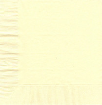 50 Plain Solid Colors Luncheon Dinner Napkins Paper - Ivory - £2.84 GBP
