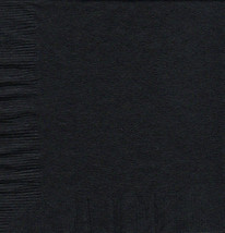 50 Plain Solid Colors Luncheon Dinner Napkins Paper - Black - £2.84 GBP