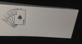 "50 Silver Royal Flush Cards Tent Style White place cards 4.25"" x 1.75 fo... - $7.91"