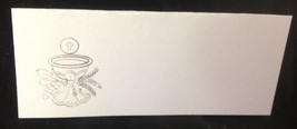 "50 Silver Challis Tent Style White place cards 4.25"" x 1.75 folded - $7.91"