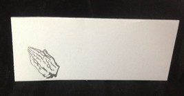 "50 Silver Praying Hands Tent Style White place cards 4.25"" x 1.75 folded - $7.91"
