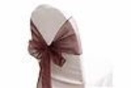 """6 Chair Bow Organza Sashes Chair Wedding Party Bows 9"""" x 10ft - Wine - $14.84"""