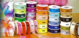 "7/8"" Plain Sheer Organza Nylon Ribbon 25 Yards - Orange - $3.47"