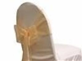 """72 Chair Bow Organza Sashes Chair Wedding Party Bows 9"""" x 10ft-Peach - $98.01"""