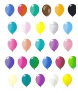 "72 Latex Balloons 12"" With Clips and Curling Ribbon-Black - $16.78"