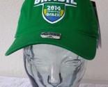 BRASIL 2014 FIFA WOLRD CUP BRAZIL SLOUCH ADIDAS HAT CAP NWT ADJ.STRAP CURV BRIM