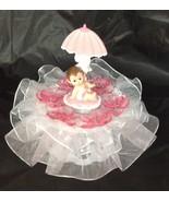 Baby Girl under umbrella Shower Cake Top  Decoration Centerpiece - $14.80