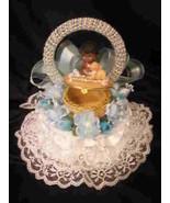 Baby Shower Cake Top Centerpiece Black Baby Box Boy - $11.88