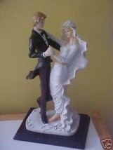 "Bride and Groom Poly Resin Statue by DeVinci 14"" tall - $39.60"