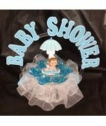 Boy Baby under umbrella and an Arch Shower Cake Top  Decoration Centerpiece - $19.75