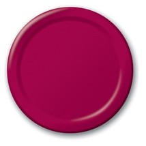 """Burgundy 9"""" Luncheon Paper Plates 24 Per Pack heavy duty - $3.91"""