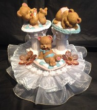 Bears at play Baby Shower Cake Top Birthday Decoration Centerpiece - $24.70