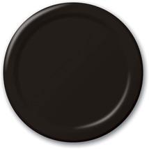 "Black 6.75"" Dessert Paper Plates 24 Per Pack heavy duty - $2.96"
