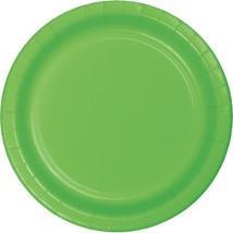 "Citrus Green 6.75"" Dessert Paper Plates 24 Per Pack heavy duty - $2.96"